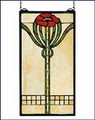 Arts and Crafts Parker Poppy Stained Glass Panel