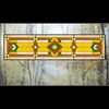 Arts and Crafts Prairie Glass Transom - Green