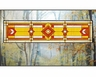 Arts and Crafts Prairie Glass Transom - Red