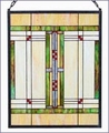 Arts and Crafts Prairie Stained Glass Panel