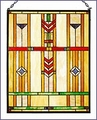 Arts and Crafts Prairie Window Stained Glass Panel