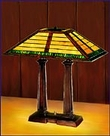 Arts and Crafts Stained Glass Desk Lamp 992
