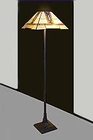 Arts and Crafts Stained Glass Floor Lamp