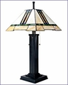 Arts and Crafts Stained Glass Table Lamp 8331