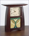 Arts & Crafts Bleeding Heart Mantel Clock