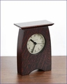 Arts & Crafts Desk Clock in Oak