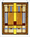 Arts & Crafts Prairie Stained Glass Panel 1