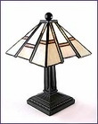 Arts & Crafts Stained Glass Mini Accent Lamp 1435