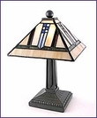 Arts & Crafts Stained Glass Mini Accent Lamp 1438
