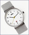 Braun Analog Men's Watch Mesh Band by Dietrich Lubs and Dieter Rams