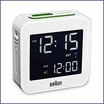 Braun BNC008 Digital Travel Alarm Clock White