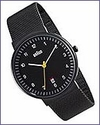Braun Men's Analog Watch Black Face Black Mesh Band