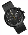 Braun Prestige BN0095 Analogue Chronograph Watch Black Bracelet