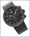 Braun Prestige BN0095 Analogue Chronograph Watch Black Rubber
