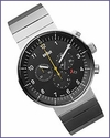 Braun Prestige BN0095 Analogue Chronograph Watch Silver Bracelet