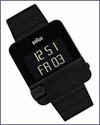 Braun Prestige BN10 Digital Watch Black Bracelet