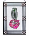 Charles Rennie Mackintosh Rose Art Glass Panel 2