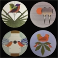 Charley Harper Love Birds Coasters Set with Stand