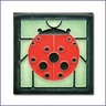 Charley Harper Ladybug with Border Mint Motawi Tile