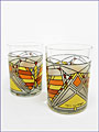 Frank Lloyd Wright Butterfly Tumbler Gold