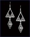 Frank Lloyd Wright Desert Triangles Earrings