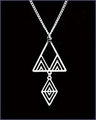 Frank Lloyd Wright Desert Triangles Pendant Necklace
