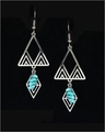 Frank Lloyd Wright Desert Triangles with Turquoise Earrings
