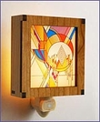 Frank Lloyd Wright Hardwood Frozen Spheres Night Light