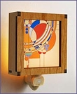 Frank Lloyd Wright Hardwood March Balloons Night Light