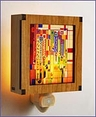 Frank Lloyd Wright Hardwood Saguaro Night Light