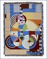 Frank Lloyd Wright Hoffman House Tapestry Throw