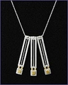 Frank Lloyd Wright Home and Studio Sterling Silver Necklace
