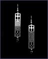 Frank Lloyd Wright Oak Park Ceiling Grille Earrings