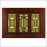 Frank Lloyd Wright Oak Park Skylight Trio Framed Tiles