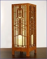 Frank Lloyd Wright Robie Art Glass Lightbox Accent Lamp