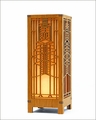 Frank Lloyd Wright Robie Art Glass Mini Lightbox Accent Lamp