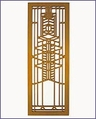 Frank Lloyd Wright Robie Glass Wood Art Screen Wall Panel Cherry
