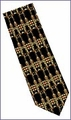 Frank Lloyd Wright Robie House Gate Design Silk Tie 1