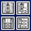 Frank Lloyd Wright Robie House Metal Insert Coasters 4