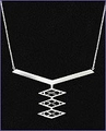 Frank Lloyd Wright Robie House Sterling Silver Necklace