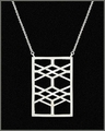 Frank Lloyd Wright Robie House Sterling Silver Pendant Necklace