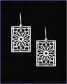 Frank Lloyd Wright Rookery Balustrade Earrings