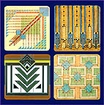 Frank Lloyd Wright Rug Designs Coasters Gift Set