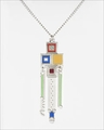Frank Lloyd Wright Saguaro Forms and Cactus Flowers Color Pendant