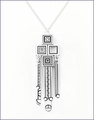 Frank Lloyd Wright Saguaro Forms and Cactus Flowers Pendant