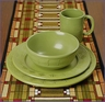 Frank Lloyd Wright Whirling Arrow 4 Piece Place Setting Fern Green