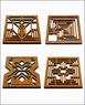 Frank Lloyd Wright Wood Trivets & Wall Plaques