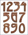 Prairie Solid Copper House Numbers