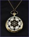 Vintage Style Art Deco Pocket Watch Pendant Necklace 2