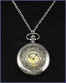 Vintage Style Pocket Watch Pendant Necklace